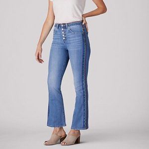 LEE Rainbow Stitch Kick Flare High Rise Jeans 14